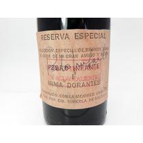 Botella Antigua De Vino Brandy Autógrafo De Pedro Infante.
