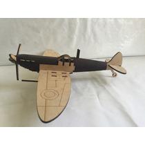 Avión 2a Guerra Mundial Mdf 3mm Corte Láser. Colección