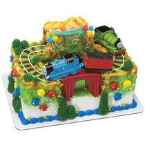 Thomas Tren Pastel Fiesta Adorno Decoracion Pastelitos Top