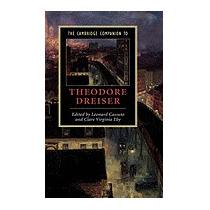 Cambridge Companion To Theodore Dreiser (new), Clare Eby