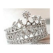 Anillo Para Una Reina O Una Princesa,corona O Tiara Plateado