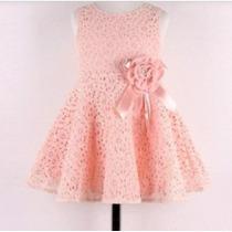 Vestido Bebita Niña Casual Lindo Elegante Fiesta Rosa