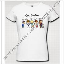 Playera One Direction Caricatura Playera 1d Caricatura Cffy