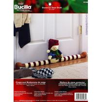 Kit De Fieltro Navidad Muñeco De Nieve Protector De Puerta