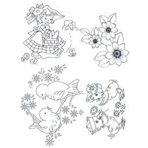 Paquete De Dibujos Para Pintura Textil