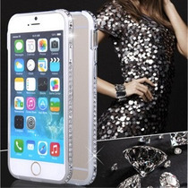 De Lujo Bumper Metal Diamonds Iphone 6,6 Plus Vv4