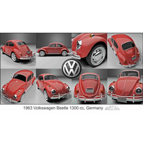 Lienzo Tela Volkswagen Sedan 1300 Alemania 1963 50x90 Poter