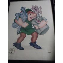 Litografia Conmemorativa Disney Jorobado De Notre Dame. 1997
