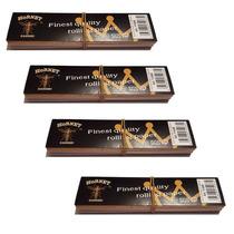Papel King Size + Tips Fumar Rolar Tabaco Sábanas 4 Pack