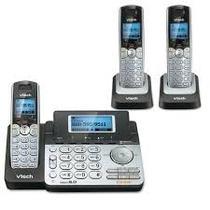 Telefonos Para 2 Lineas Vtech Ds6151 + Diadema Y Extensiones