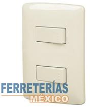 Placa Con 2 Interruptores, 1 Sencillo 1 De 3 V Voltech 48663