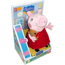 Peluches Peppa Pig Y George Hablan Español 25 Cm Originales