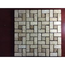 Malla Mosaico Tapete Marmol Travertino Pinwheel