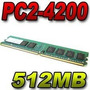 Memoria P Pc Ddr2 512mb Pc2-4200 / 533mhz