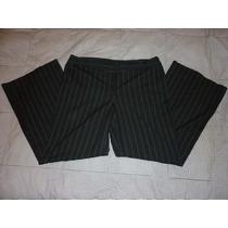 Pantalon De Vestir Loft Stretch Negro Talla Grande 14