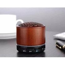Mini Altavoz Bluetooth Wireless Deli Madera - 3d Estéreo Por