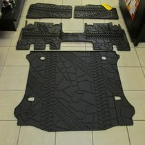 Tapetes De Plastico Original Jeep Wrangler Jk 2007-2015 3pz