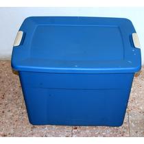 Caja Grande Sterilite D Plástico Azul Verano 83 Litros U S A
