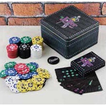 Dc Comics Batman Joker Poker Set Kit Baraja Case Guason Chip