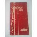 Manual De Propietario De Citation 1982 Original En Español