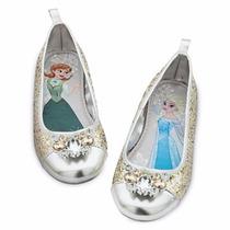 Disney Store Frozen Zapatos Flats Colección 2015 Anna/elsa