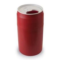 Bote De Basura En Forma De Lata Color Rojo Nuevo