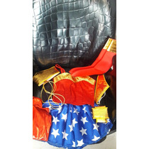 Disfraz Mujer Maravilla Traje Tallas Fiesta Chica Superheroe