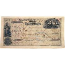 Lienzo Tela Cheque Compra Territorio De Alaska 1868 45 X 90