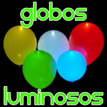 10 Globos Con Luz Led Fiestas Eventos Decoración Luminosos