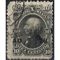 2039 Clásico Scott#107 Veracruz #50 76 Negro 10c Usado 1876