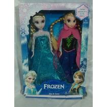 Muñecas De La Película De Frozen-anna Y Elsa-articuladas