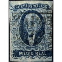 1945 Clásico Hidalgo Scott #1 Guadalajara .5 Real Usado 1856