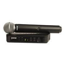 Kit 2 Microfonos Shure Sm58 Con Sistema Inalmbrico Blx24 H8