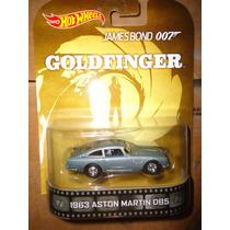 Hot Wheels Retro 1963 Aston Martin Goldfinger Llantas Goma