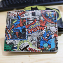 Cartera Marvel Heroes Comics Nueva Spiderman Capitan America