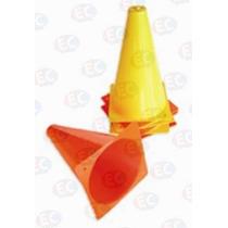 Edu-020 Cono De Señales Plástico 12 Piezas 23 Cm De Eduplas