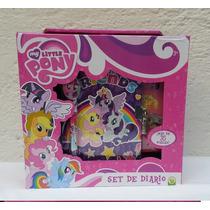 Fiesta My Little Pony Set De Diario Con Estampas Y Sellos