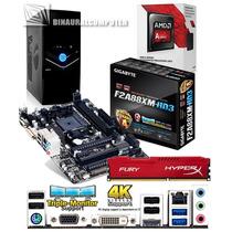 Pc Gaming Amd A8-7600 Quad Core Radeon R7 Ga-f2a88xm-hd3 4gb
