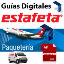 Guía Digital 1-2 Días Estafeta 1 Kg Electrónica Prepagada