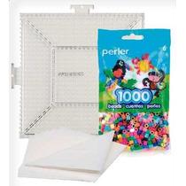 Perler Beads :: Kit Básico (1000 Cuentas + Base + Papel)