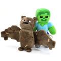 Peluches De Minecraft Murcielago Y Zombi Originales