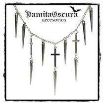 Collar Cruces & Spikes Gotico Dark Pastel Goth