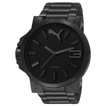 Puma Ultrasize Metal Full Black 50mm Diametr Reloj Diego Vez