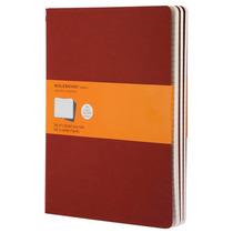 Libreta Extragrande Roja Rayas Moleskine Cuaderno