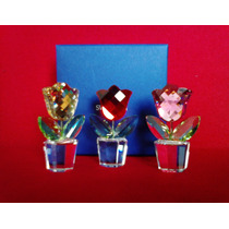 Figuras / Figura Swarovski Flor Tulipan Miniatura