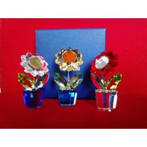 Figuras / Figura Swarovski Flor Girasol Miniatura