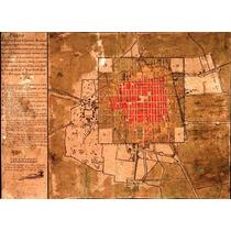 Lienzo Tela Mapa De La Ciudad De México Año 1794 Plano 50x69