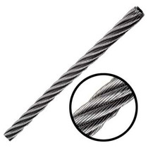 Cable De Acero Galvanizado En Rollo 7x7 1/4 Y 300 Metros Obi