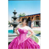Hermoso Vestido De Xv Años Color Fucsia -usado Solo Una Vez