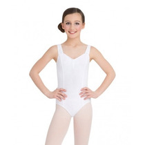 Capezio Leotardo De Tirantes Color Blanco Niña Intermedio